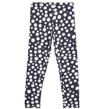 Armani Junior Girls Blue and White Polka Dot Leggings
