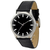 Minimalist  Watch (Black backgroud / Bold Stripes)