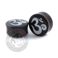Ohm Mother of Pearl Ebony Wood Plugs