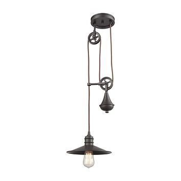 Spindle Wheel 1 Pendant Oil Rubbed Bronze