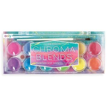 OOLY Chroma Blends Watercolor Paint Set - Pearlescent