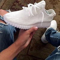 "Hot ""Adidas"" Yeezy Running Sneakers Sports Shoes White for woman and men"