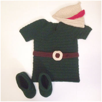 Robin Hood / Per Pan Outfit/ Set - Newborn to 6T Available