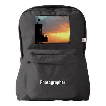 Before the Storm Sunset Clouds Art Photography Backpack