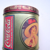 Vintage Coca Cola Metal Tin 1984