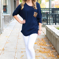 Pur-fect Pocket Tunic - Navy
