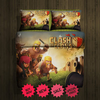 Set Gift Clash of Clans Fleece Blanket Large & 2 pillow case #85706732 ,85706733 (2) - Home Deco On Line