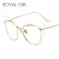 ROYAL GIRL Fashion Women Cat's Eye Glasses Brand Designer Frames Women UV500