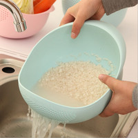 New arrive plastic Clean Rice Machine Vegetables basin wash rice sieve fruit bowl fruit basket the kitchen good cooking tools
