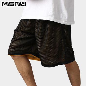 MISNIKI 2017 Hot High Quality Reversible Casual Shorts Men Summer Double-Way Breathable Basketballs Shorts