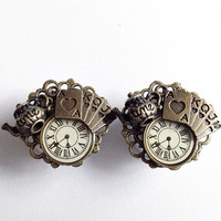 Alice In Wonderland Tick Tock Ear Plugs