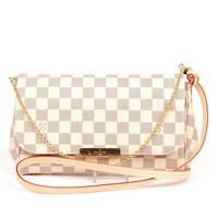 "Louis Vuitton Favorite Mm Azur L016 Damier Ebene Canvas Cross Body Bag ""NWT"" (Authentic Pre-owned)"