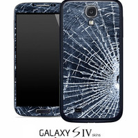Shattered Glass Skin for the Samsung Galaxy S4, S3, S2, Galaxy Note 1 or 2