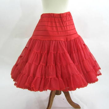 "Red Square Dance Petticoat | Red Crinoline Slip | Red Tutu | Square Dance Clothes | ""Fantasia"" 2 - Layer  