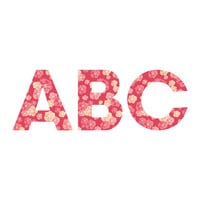 Lisa Argyropoulos Blossoms On Coral Decorative Letters