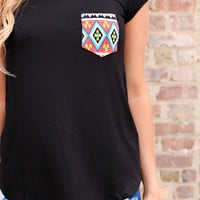 Touch of Tribal Tee - Black