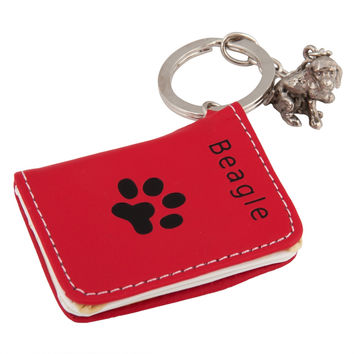 Beagle Photo Wallet Keychain