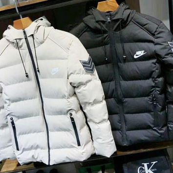 ONETOW NIKE Fashion The North Of Boys Men Warm Stand Slim Winter Zip Good Quality Coat Long Sleeve Outwear Down Jacket G-G-JGYF
