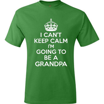Funny New Grandpa T-Shirt T Shirt Tee Mens Funny Humor Gift Present Grandpa Papa Baby Shower Pregnancy Reveal Birth Dad Fathers Day