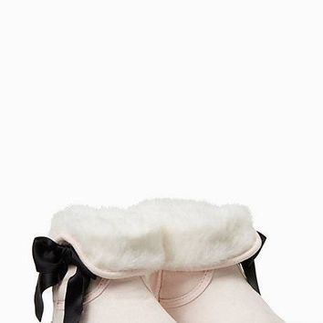 faux fur booties with bow