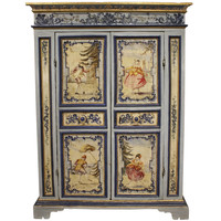 An 18th century Venetian two door painted armoire