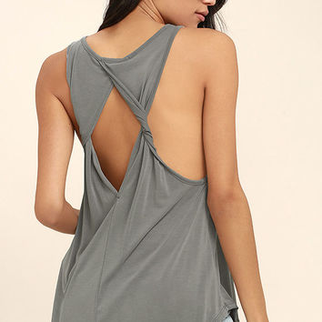 PPLA Flynn Grey Tank Top