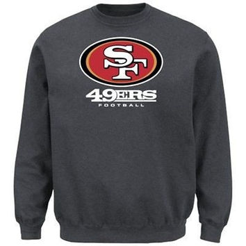 San Francisco 49ers Critical Victory VIII Crewneck Sweatshirt Big and Tall Sizes