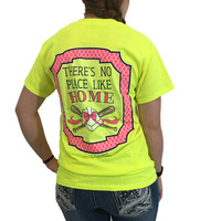 Southern Couture Preppy Home Plate Bow Baseball Softball T-Shirt