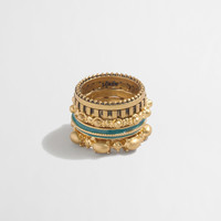 Factory golden tower ring set : Jewelry | J.Crew Factory