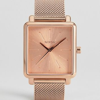 Nixon K Squared Mesh Watch In Rose Gold at asos.com