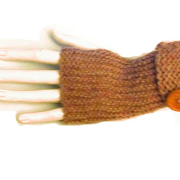 Fingerless Knitting Gloves Pattern Garter Stitch Easy Knit Hand Warmers Wrist Warmers Pattern