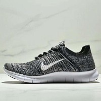 NIKE BETTER WORLD Fashion New White Black Hook Knit Running Sports Leisure Women Men Shoes