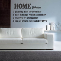 Vinyl Wall Quotes Definition of Home Lettering Decal Sticker