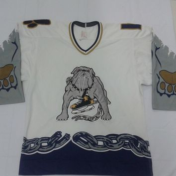 RARE Vintage Bauer Los Angeles Ice Dogs IHL Jersey Authentic 48 Sewn (Long Beach)