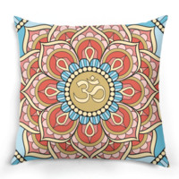 Mandala Om Pillow