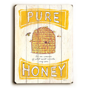 Pure Honey Wood Sign
