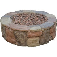 Bond Manufacturing Petra 36 in. Round Envirostone Propane Fire Pit-66600BOND - The Home Depot