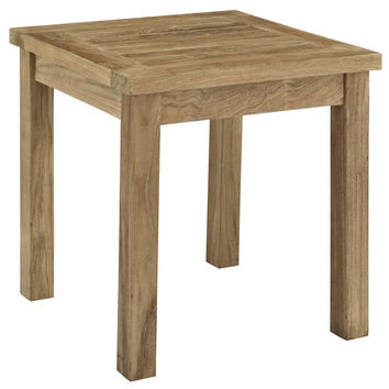 Natural Marina Outdoor Patio Teak Side Table