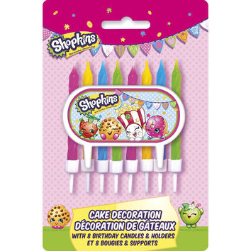 Shopkins Cake Decoration and Candles