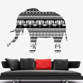 Wall Vinyl Elephant Animal Africa Ornament Mural Vinyl Decal Unique Gift (z3339)