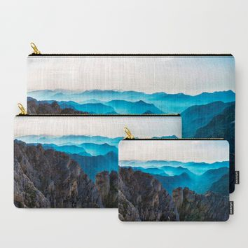 Mountains Breathe Too Carry-All Pouch by Mixed Imagery