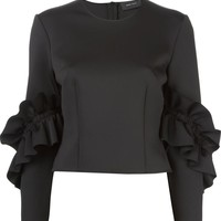 Simone Rocha frilled sleeve top