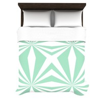 "Kess InHouse Project M ""Starburst Mint"" 68 by 88-Inch Duvet Cover, Twin"