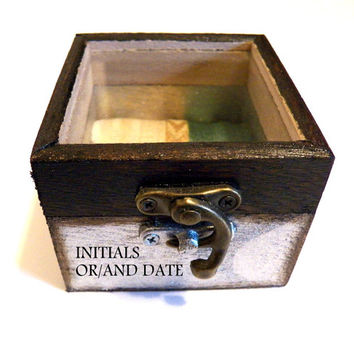 Wedding Ring Bearer, Wooden Gift Box, Personalized Jewelry, Custom Ring Box, Trinket Box, Rustic Ring Bearer, Pillow Alternative Jewelry Box