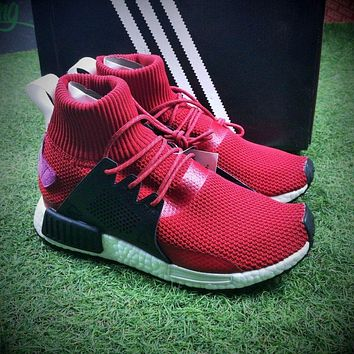 Newest Adidas NMD XR1 Winter Boost Red Mid Sleeves Socks Sport Shoes BZ0635