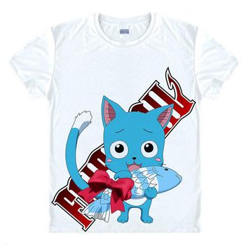 Fairytail T Shirts Men Famous Anime Fairy Tail T-Shirt Short Sleeve O Neck Shirt Summer Men Women Tees