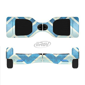 The Vibrant Blue Vintage Chevron V3 Full-Body Skin Set for the Smart Drifting SuperCharged iiRov HoverBoard