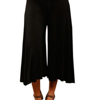 High Waisted Culotte Goucho Pants