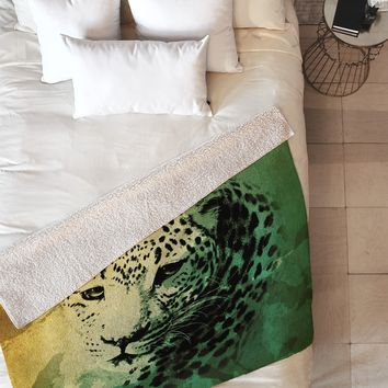 Allyson Johnson African Leopard Fleece Throw Blanket