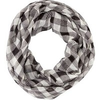 Lightweight Checkered Infinity Scarf by Charlotte Russe